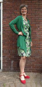 Janny in groen vest. 12-6-16 foto Chris van Gelderen