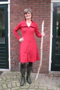 Janny in rode jurk. 20-11-15 (2)